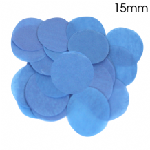Blue Tissue Paper Confetti | 15mm Round | 14g Bag